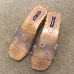 Vintage Candie's Wooden Sandals